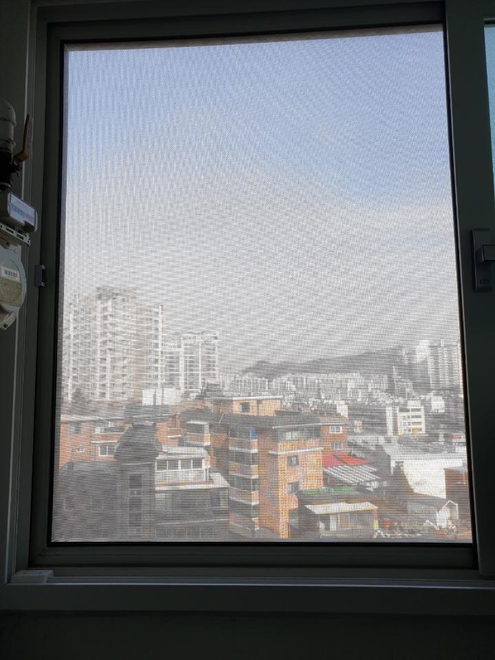 홍제동 한화 아파트 티엔나노방진망 설치 (1)