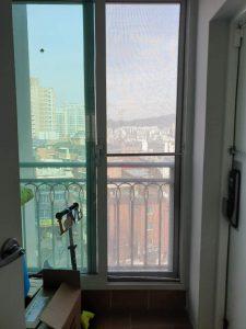 홍제동 한화 아파트 티엔나노방진망 설치 (3)