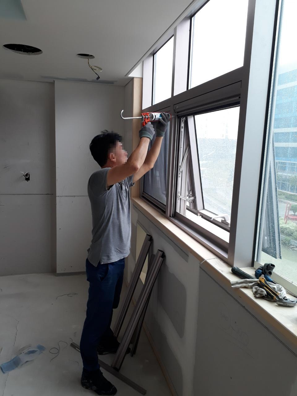 청라 포스코 어린이집 티엔 나노방진망으로 미세먼지 및 공기질 개선