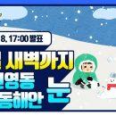 [날씨예보17] 2월 8일 17시 발표, 내일 새벽까지 강원영동, 경북동해안 눈